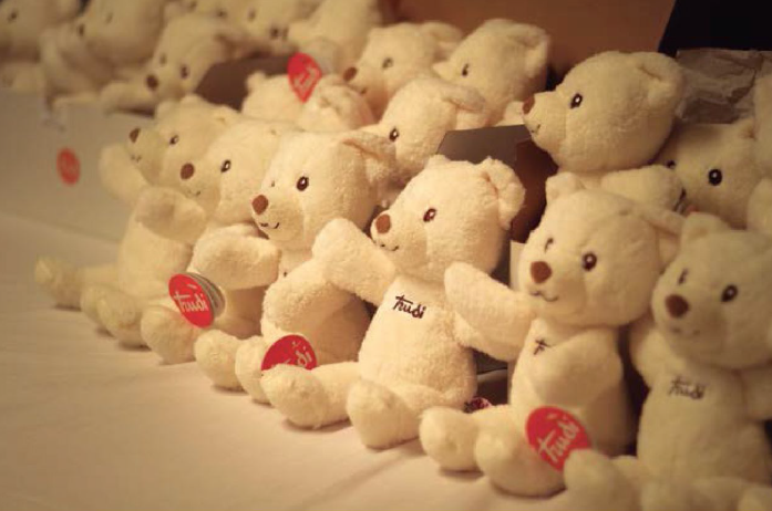 Teddy Bears for remembrance ceremony
