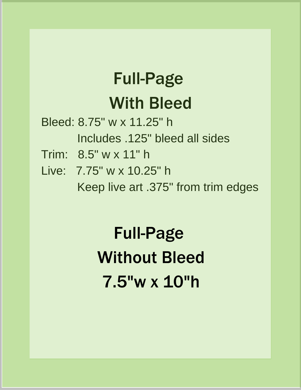 Full-Page Bleed, No Bleed