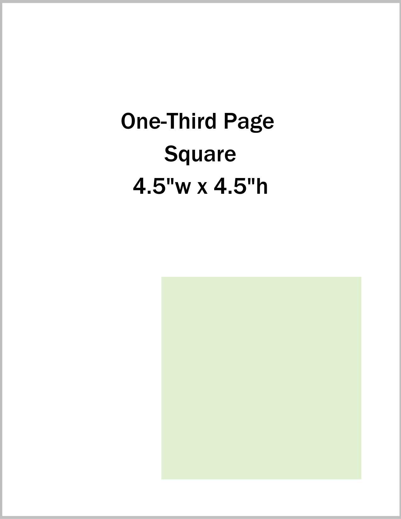 One-Third Page Square