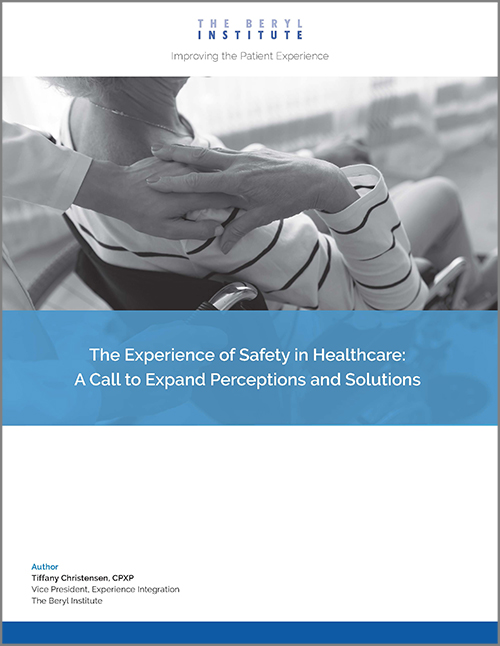 The Beryl Institute Experience of Safety in Healthcare Cover